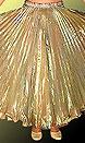 Юбка из гофрированной органзы для танца живота